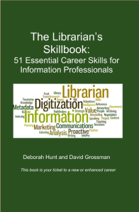 The Librarian's Skillbook, by Deb Hunt and David Grossman